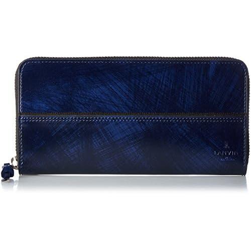 [ランバンオンブルー] LANVIN en Bleu 長財布 グラン 長札 ラウンドファスナー 553605 NVY コン