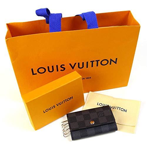 [セット品]正規化粧箱&正規紙袋付き ルイヴィトン LOUIS VUITTON N62662 6連キーケース メンズ ダミエグラフィット ミュルティクレ6