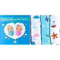 CozyCloud 100% Organic Cotton Muslin Swaddle Baby Blankets Set of 3 [並行輸入品]