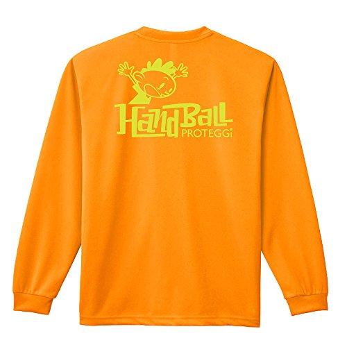 (プロテッジ)PROTEGGi ハンドボールカートゥーン ブロック編 長袖ドライTシャツ オレンジ S