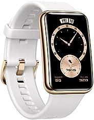 【Amazon.co.jp限定】HUAWEI Watch FIT Elegant スマートウォッチ 1.64インチAMOLEDディスプレイ 10日間長時間バッテリー 血中酸素常時測定 ステンレススチール製フレーム 心拍数