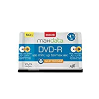 DVD-R Recordable Discs, 4.7GB, 16x, Spindle, White, 50/Pack