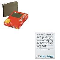 kitpac74710unv14115–Valueキット–PaconチャートタブレットW /原稿カバー( pac74710)とユニバーサルHangingファイルフォルダ( unv14115)