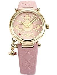 [ヴィヴィアンウエストウッド] 腕時計 ORB ピンク文字盤 ピンク革 クォーツ VV006PKPK 並行輸入品 ピンク