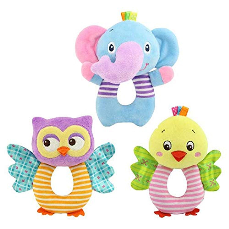 新生児 赤ちゃん おもちゃ アニメ 動物 赤ちゃん 男の子 女の子 ラトル ハンドベル 幼児 ぬいぐるみ おもちゃ
