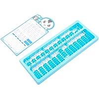 幼児期のゲーム 7ビーズ13ファイル赤ちゃんの知的Abacus透明なプラスチックの主題(ランダム色)