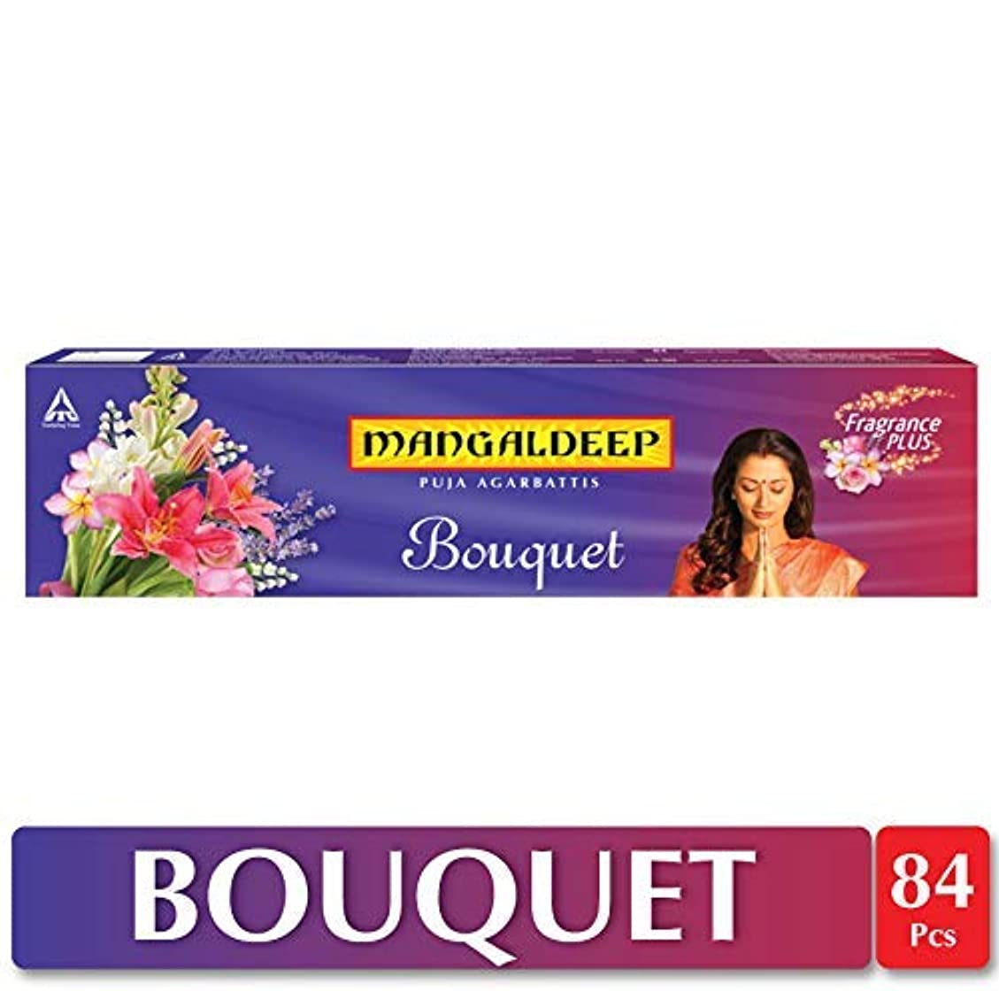 蓋盆地刈るMangaldeep Bouquet Agarbatti 84 Sticks