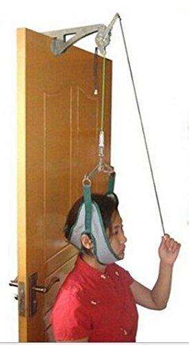 頚椎牽引器 セット 頸椎症 頸椎 ヘルニア 首こり 頭痛 肩こり 自宅で 解消 グッズ ドア 押さえ 簡単