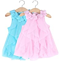 AABEY 0-24M Baby Girls Pageant Party Romper Dress,One-Piece Jumpsuit