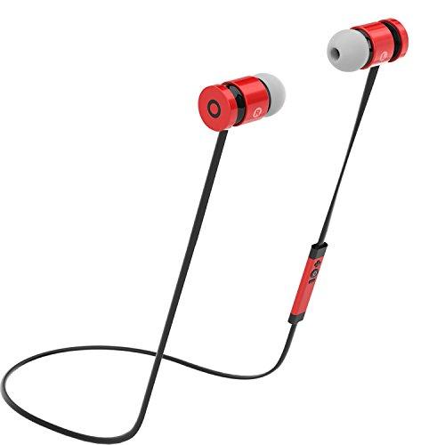 Rephoenix Bluetoothイヤホン ワイヤレスイヤフォン ノイズキャンセリング搭載 ヘッドホン レッド