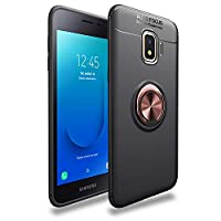 Samsung Galaxy J2 Coreケース TUPソフトシェル ケースリング付き 衝撃 落下 防止 指紋防止 防水滑り止め 薄型 スタンド機能 車載ホルダー 360回転 3D Touch対応 おしゃれ 軽量 薄い 携帯カバー (ローズゴールド)