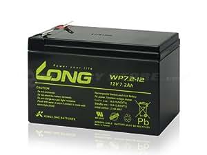 【12V7.2Ah UPS用バッテリー】LONG / WP7.2-12(BE500JP/BP300JPNP/BK350J/BK500JS/BK350JP/BK500JP対応 WP8-12 WP1236W互換)