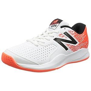 [ニューバランス] テニスシューズ MC606 メンズ ホワイト/オレンジ 27 2E (現行モデル)