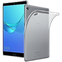 Huawei MediaPad M5 8.4 ケース Qosea Huawei MediaPad M5 8.4 保護カバー 高品質TPU シリコン ケース 落下防止衝撃 吸収防指紋 超薄型、軽量TPU素材 ケース