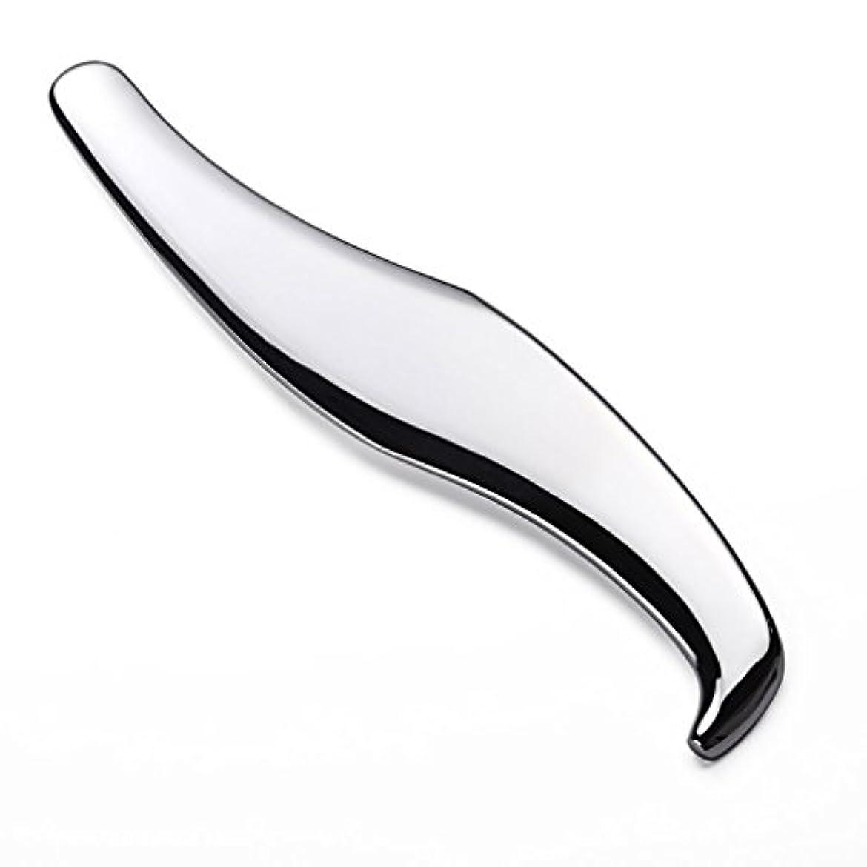 上流のマグ半円ステンレスかっさプレート、 ステンレスカッサプレート、筋膜リリースツール、筋膜の動員ツール、【医用ステンレス素材】ST001