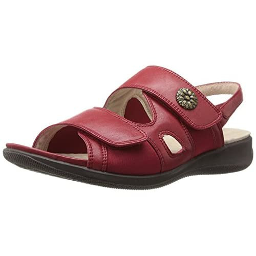Softwalk Women's Tanglewood FlatRed9.5 M US [並行輸入品]