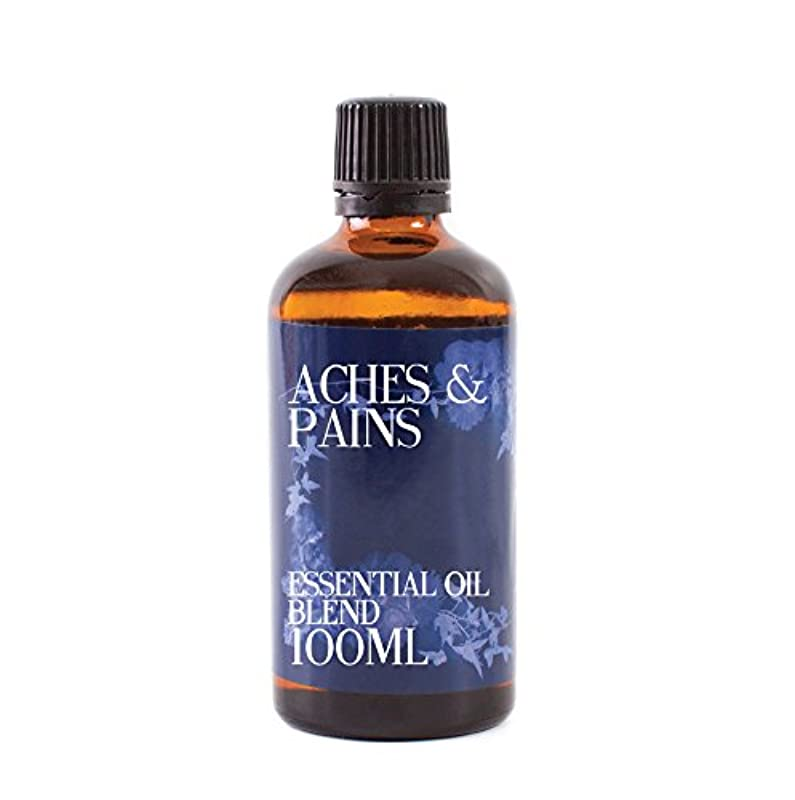 にじみ出る抽象化たぶんMystic Moments | Aches and Pains Essential Oil Blend - 100ml - 100% Pure