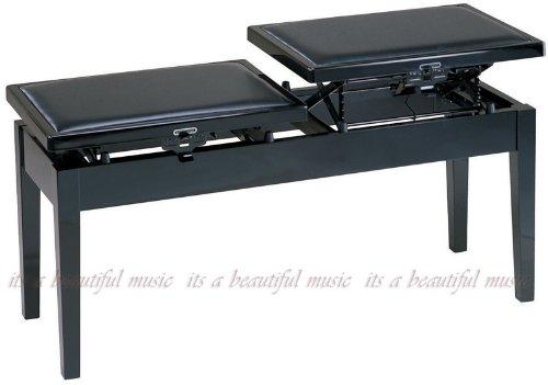 ピアノ椅子 連弾親子タイプ 甲南 Konan No.3W (黒)