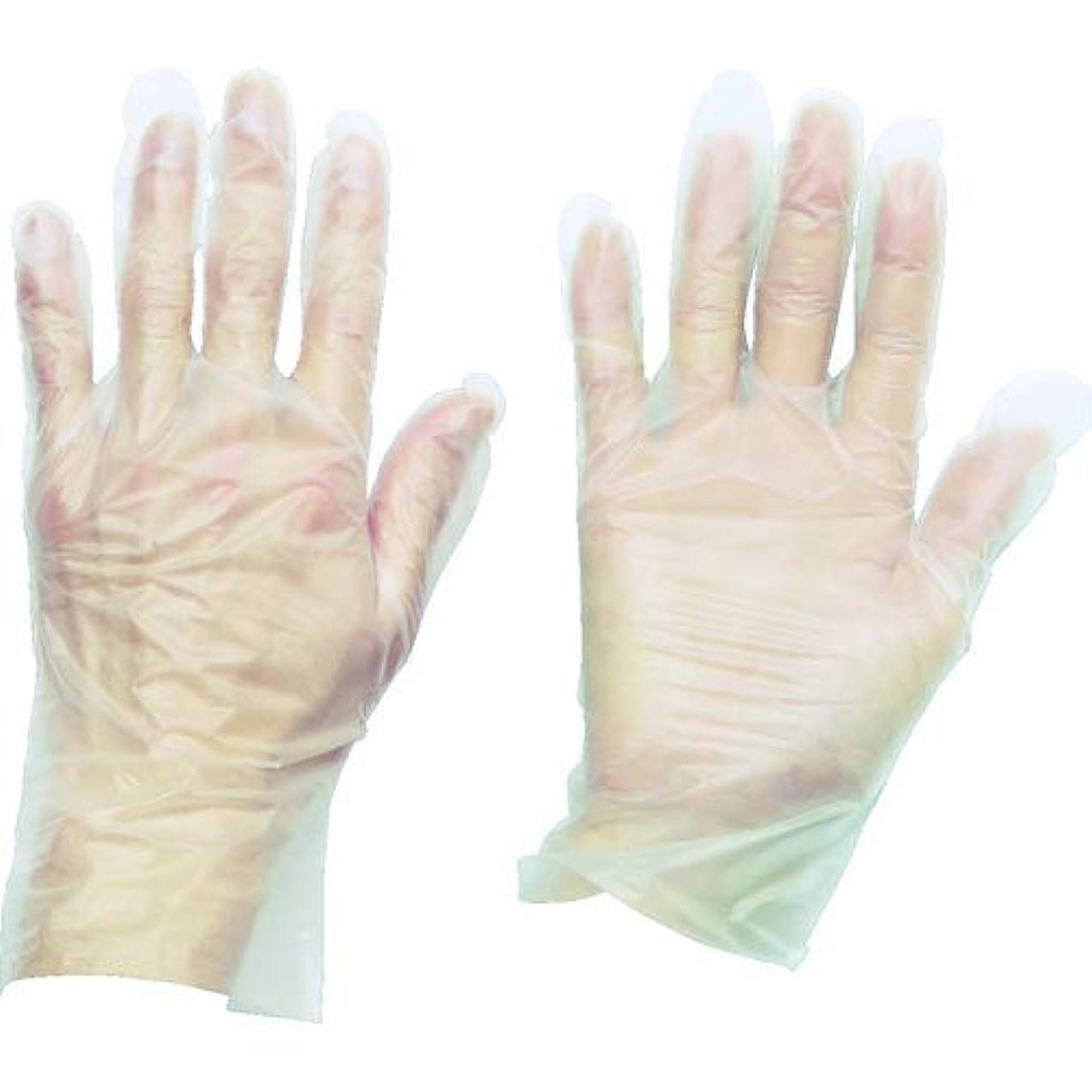 幅ライン装備するトラスコ中山 株 TRUSCO ポリエチレン 使い捨て手袋 ウェーブカットタイプS 100枚入 TGCPE025S