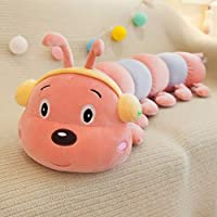 キャタピラー ぬいぐるみ 抱き枕 面白い 40-90CM ふわふわ もちもち かわいい 動物 おもちゃ 大きい 子供 彼女へ 誕生日 プレゼント 贈り物 ふかふか 柔らかい お祝い 入園祝い 入学祝い バレンタイン 40cm ピンクレッド