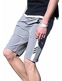 メンズ 半ズボン M-5XL ハーフパンツ 5分丈 大きいサイズ 短パン 夏 カジュアル 調整紐 ストレッチ ファッション シンプル ゆったり 通気性 部屋着 お出かけ スポーツ 無地 ボトムス グレー ブラック ネイビー