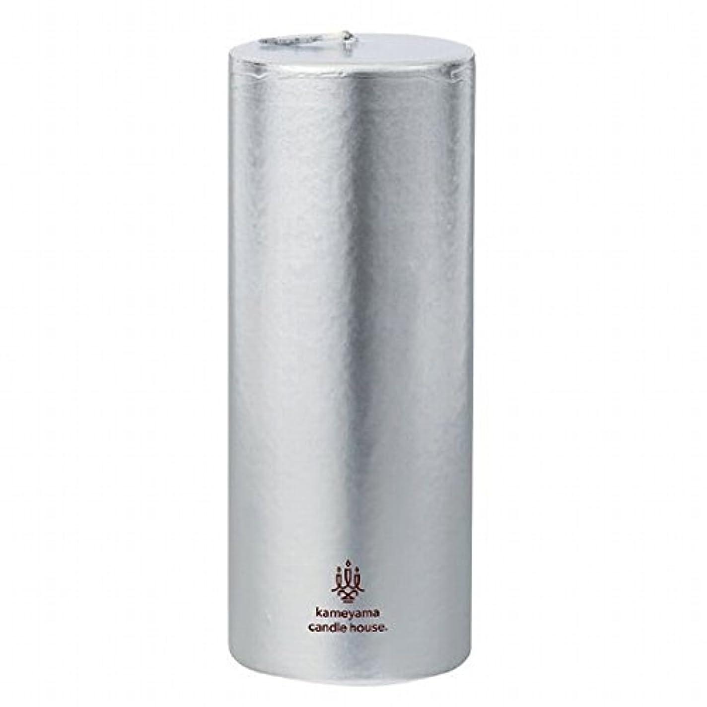 援助する場合属するカメヤマキャンドル(kameyama candle) メタリックピラー2×5 「 シルバー 」