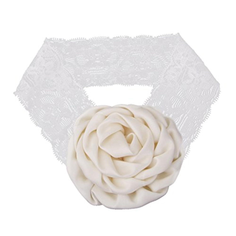 【ノーブランド 品】赤ちゃん 花 可愛い ヘアバンド ヘッドバンド ヘアアクセサリー 髪飾り 出産祝い 写真撮影 小道具 ベージュ