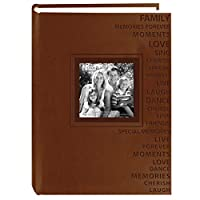 PioneerフォトアルバムエンボスWords Leatherette Album (Pack of 2)
