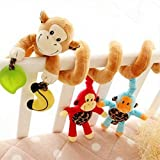 New Baby Cot Spiral Activity Hanging Decoration Baby Toys Cot Car Seat Pram Xmas Gifts Baby Boy Money