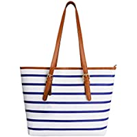 Coofit Adult Beach Bag, Stripes Summer Purse Tote Shoulder Bag