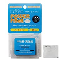 【増量120本!】Brace パワーファイバー 眼瞼下垂防止テープ ハードタイプ シングルスレッド 透明1.6mm幅 120本入り×10個セット + ヘアゴム(カラーはおまかせ)セット