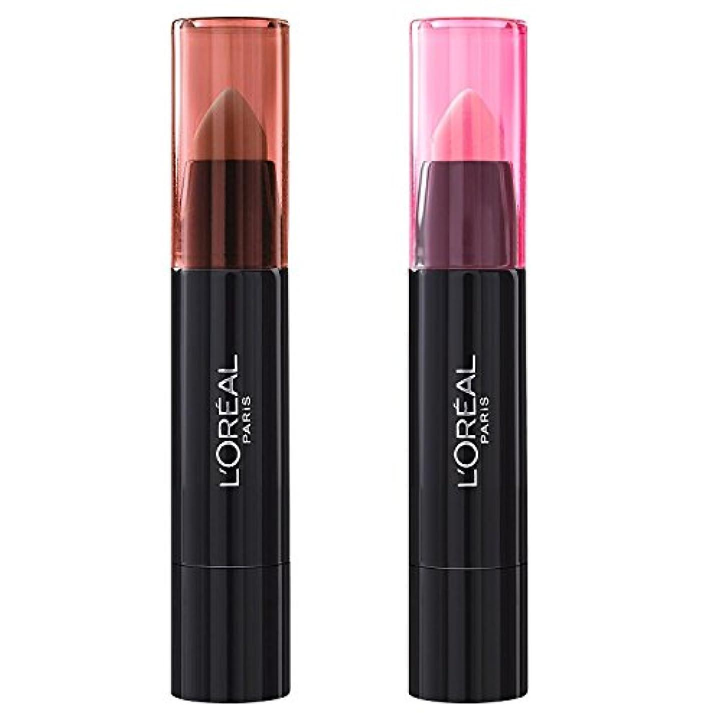 とげ退屈偏心L'Oréal Paris Lippenbalsam INFAILLIBLE SEXY BALM - 108 Whaaat? + 101 We Wear Pink (2 Stück)