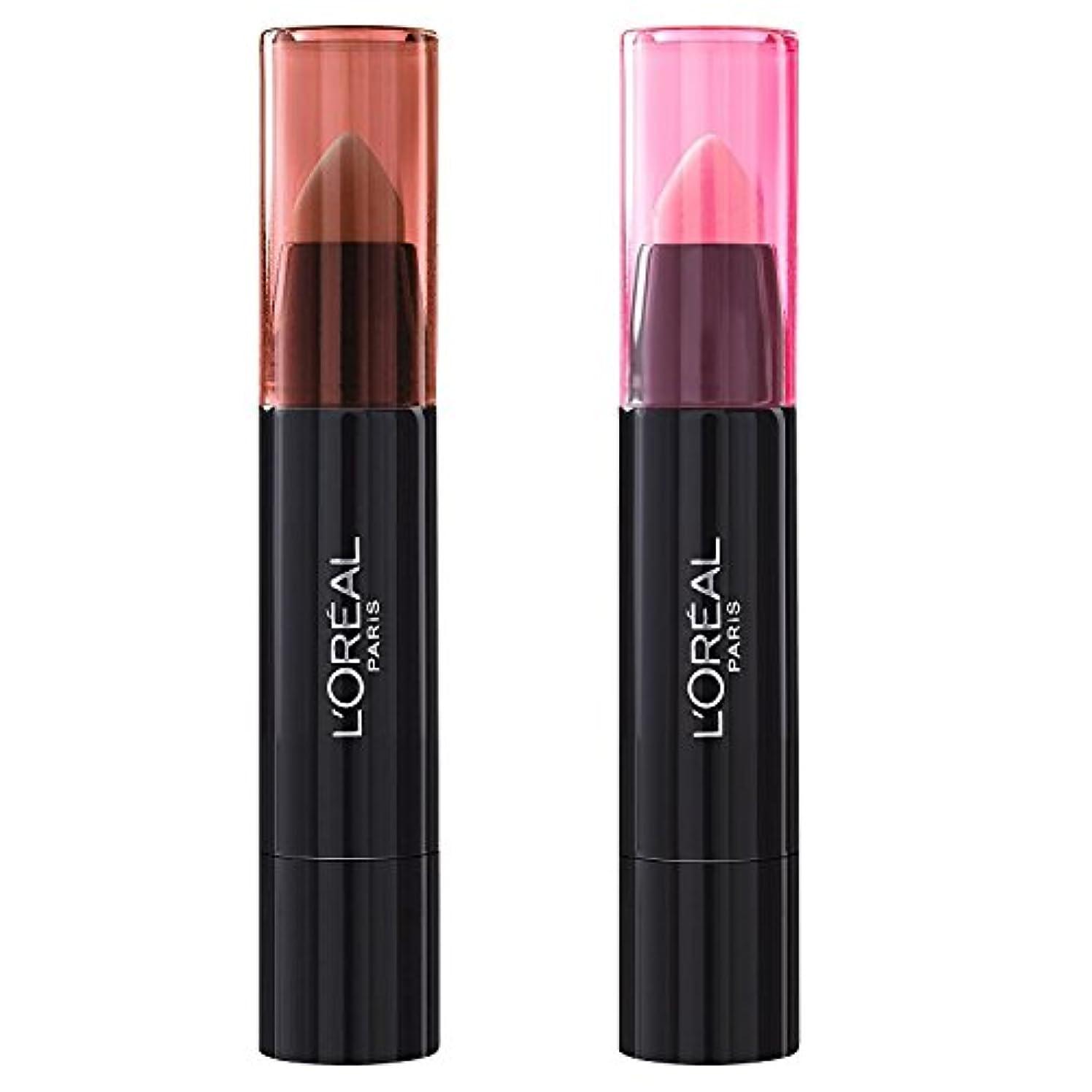 安定した明日傘L'Oréal Paris Lippenbalsam INFAILLIBLE SEXY BALM - 108 Whaaat? + 101 We Wear Pink (2 Stück)