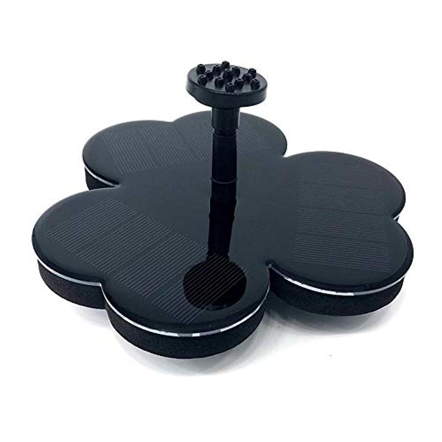 ミッションとてもに渡ってガーデン用噴水 花の形の浮動泉ソーラー噴水の水ソーラーウォーターポンプ付き6ノズルブラックパワード ソーラーミニ噴水 (Color : Black, Size : M)