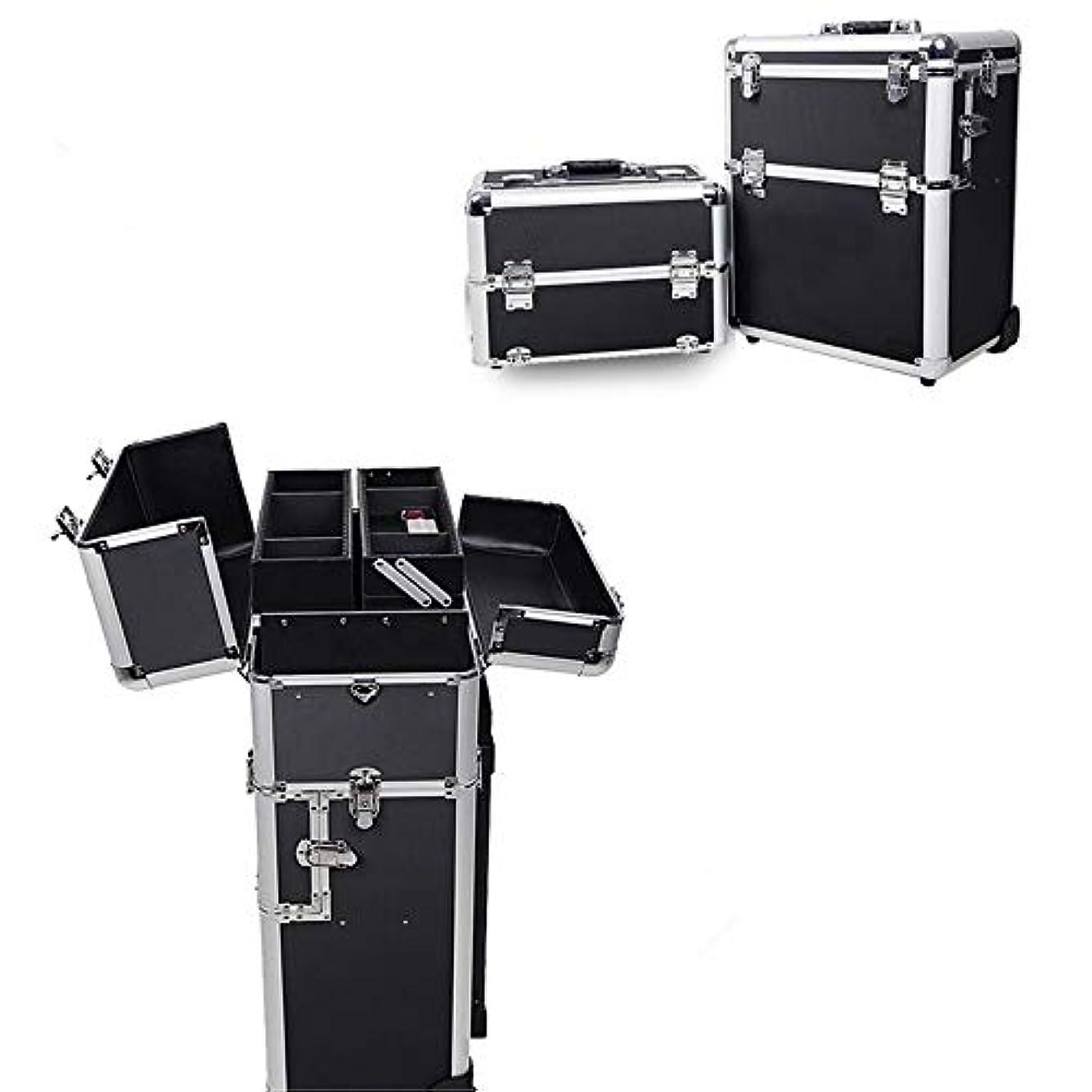 エコースコア別の化粧オーガナイザーバッグ 旅行メイクバッグ3層スーツケースメイク化粧品バッグポータブルトイレタージュ化粧ケース 化粧品ケース
