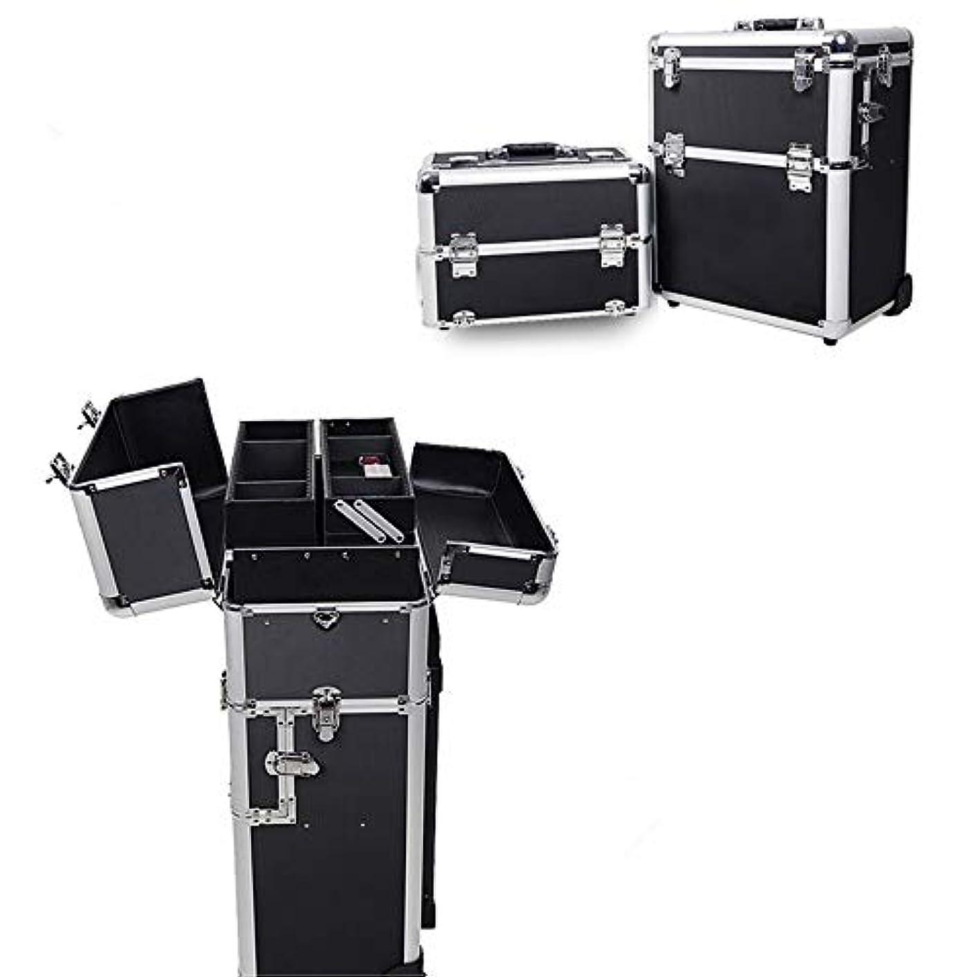 力悪行破壊的な化粧オーガナイザーバッグ 旅行メイクバッグ3層スーツケースメイク化粧品バッグポータブルトイレタージュ化粧ケース 化粧品ケース