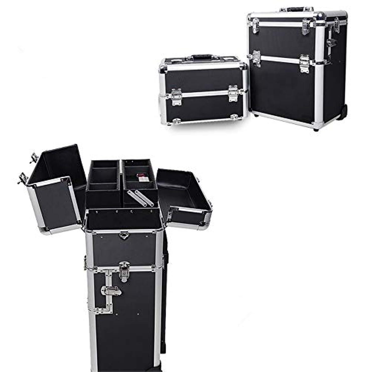 奨励します予感バラ色化粧オーガナイザーバッグ 旅行メイクバッグ3層スーツケースメイク化粧品バッグポータブルトイレタージュ化粧ケース 化粧品ケース