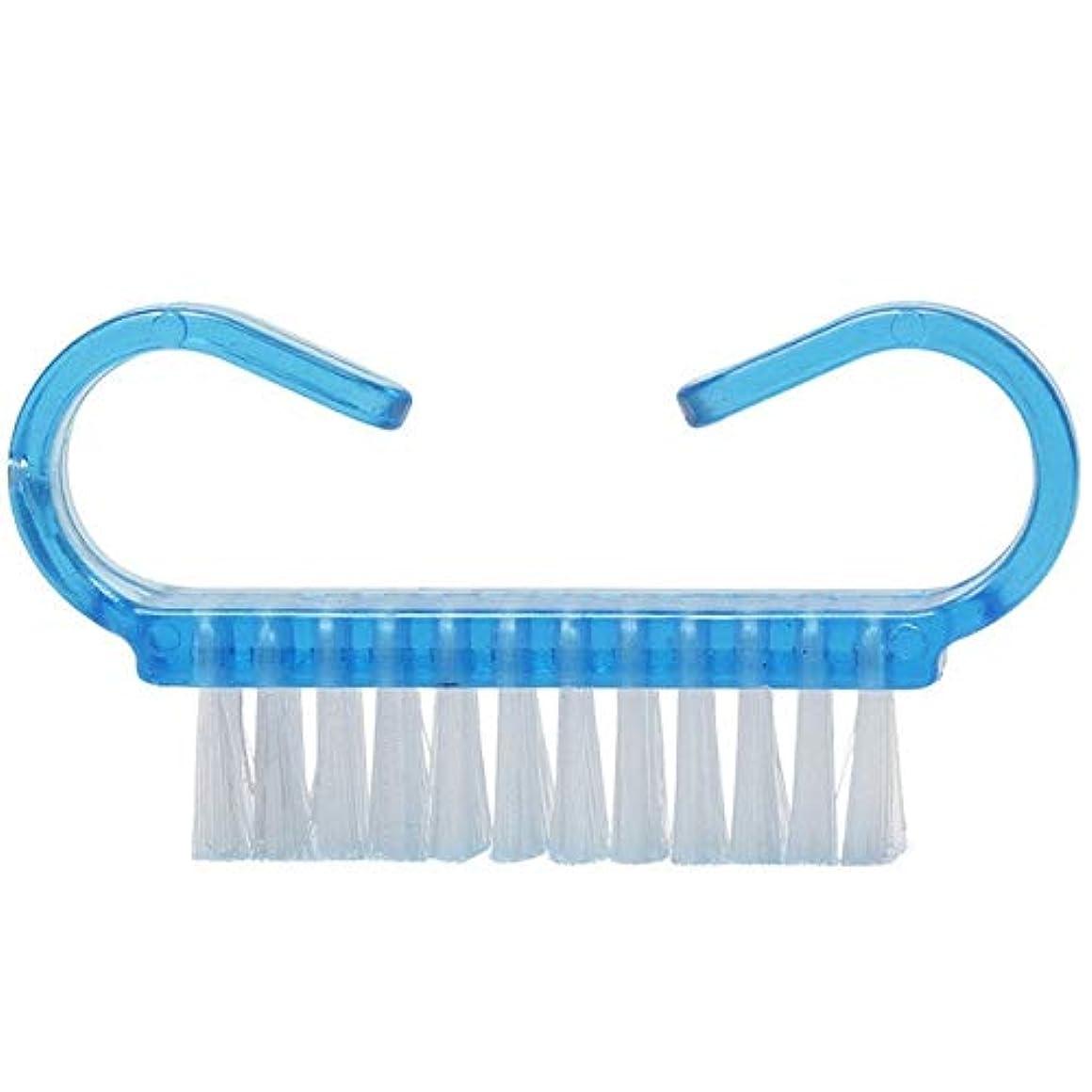 ミュウミュウ容器トレードYan 10個入りクリーニングブラシツールネイルアートケアマニキュアペディキュアほこり小角度クリーンブラシ(ピンク) (色 : Blue)