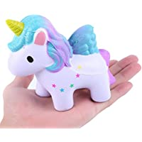 Slow Rising玩具、愛らしいColored StarユニコーンSquishy Slow RisingおもちゃソフトSqueeze応力Reliever Vent Toys