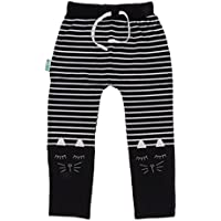 MagiDeal Girls Kids Warm Leggings Autumn Trousers Navy Blue Striped Long Pants Ages 3-10Y