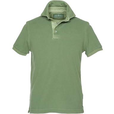 Della Ciana Garment Dyed Polo: Green
