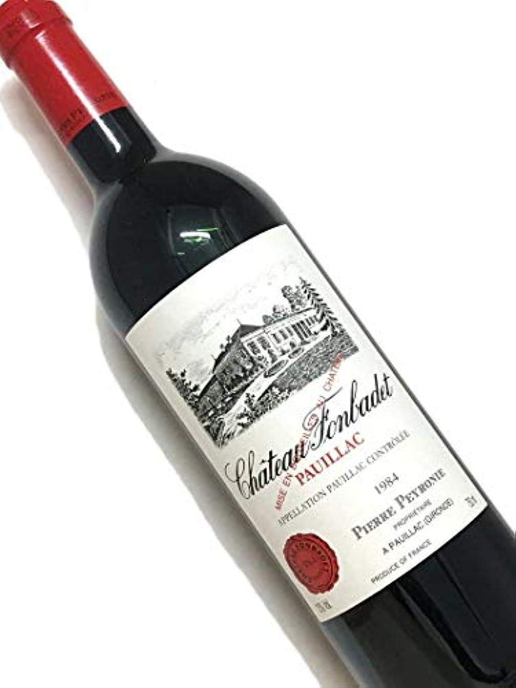 ドラッグ遅いホールド1984年 シャトー フォンバデ 750ml フランス ボルドー 赤ワイン