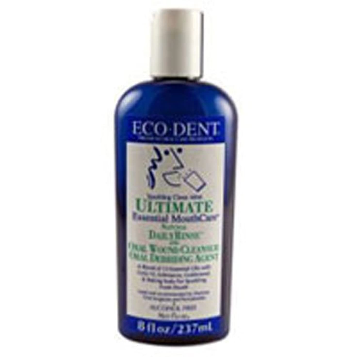 目的鋭く閃光Eco-Dent International - Ultimate Natural Dailyrinse Clean Mint, 8 fl oz liquid by Eco-Dent