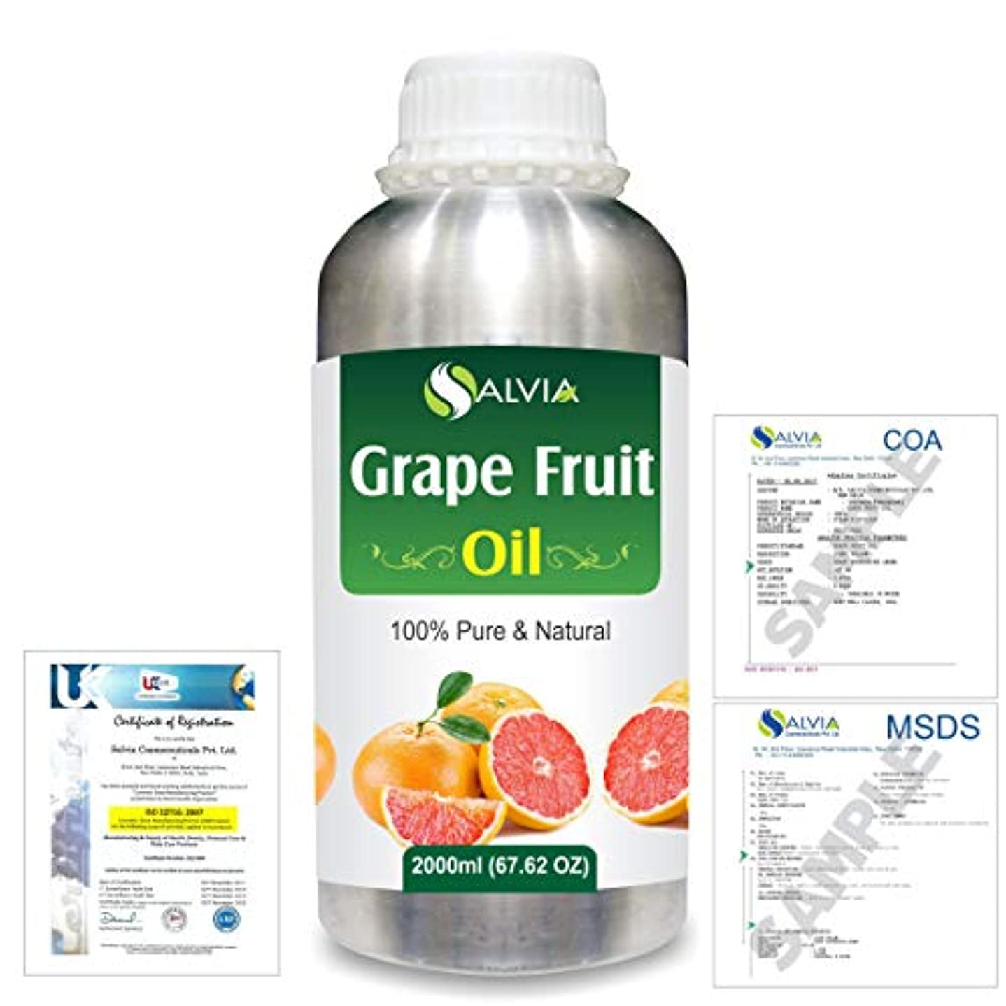 効能ある年金受給者喜んでGrapefruit (Citrus paradisi) 100% Natural Pure Essential Oil 2000ml/67 fl.oz.