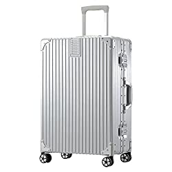 TABITORA(タビトラ) スーツケース メーカー1年保証 小型 人気 キャリーバッグ TSAロック搭載 旅行用品 出張 超軽量 大容量 静音 8輪 アルミフレーム 39L 4KG シルバー SS