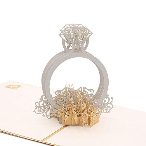 指輪のグリーティングカード メッセージカード 誕生日カード 結婚祝い 感謝状 封筒付き