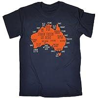 123t Men's Australia Explained Map TSHIRT birthday fashion clothing gift for him her