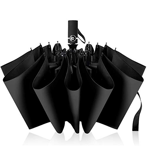 VASLON 折りたたみ傘 自動開閉 10本骨 超撥水 耐強風 Teflon加工 晴雨兼用 男女通用 梅雨対策