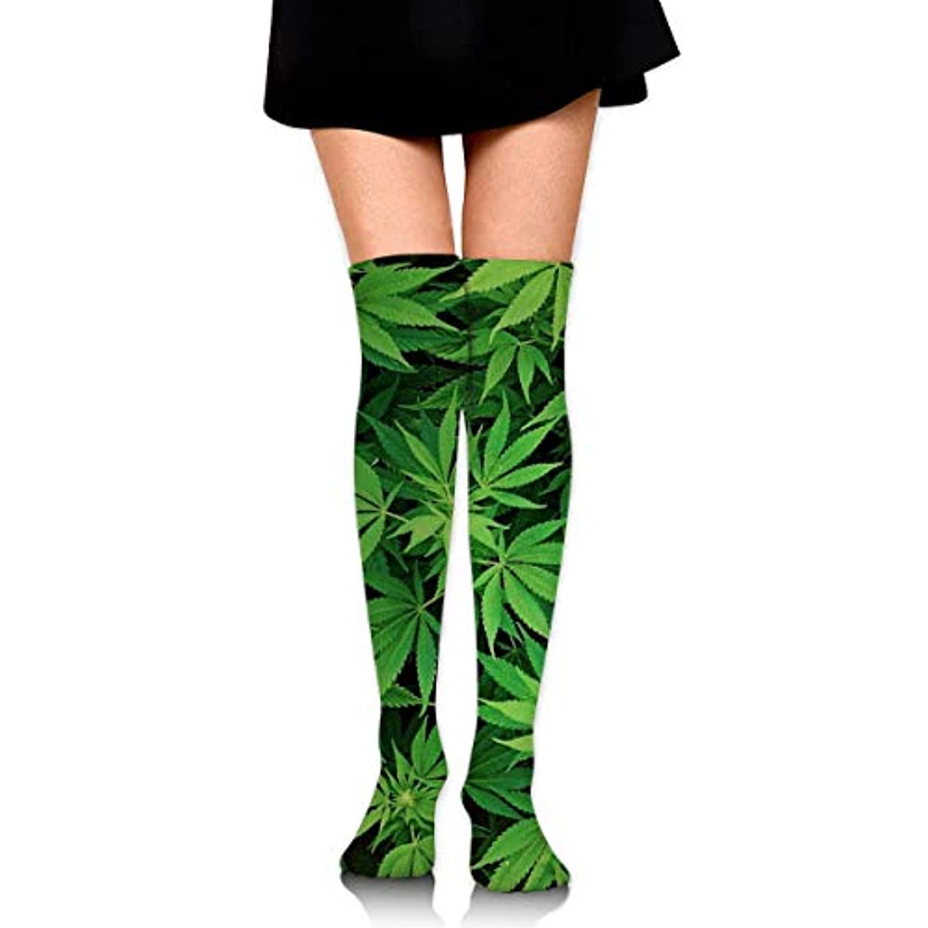 スクラップブック集団的不均一MKLOS 通気性 圧縮ソックス Breathable Thigh High Socks Over Exotic Psychedelic Print Compression High Tube Thigh Boot Stockings...