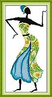 LovetheFamily クロスステッチキット DIY 手作り刺繍キット 正確な図柄印刷クロスステッチ 家庭刺繍装飾品 11CT ( インチ当たり11個の小さな格子)中程度の格子 刺しゅうキット フレームがない - 33×60 cm アフリカ風